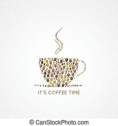 coffee cup beans design background 8 eps