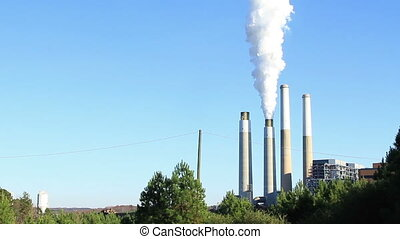 Belews Creek Steam Station - Coal power plant in operation....