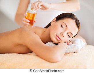 beautiful woman in spa - beauty, spa, resort and relaxation...