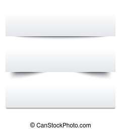 Paper shadows. Collection of white note papers.