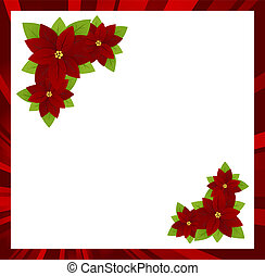 Christmas frame - Christmas white background with red frame...