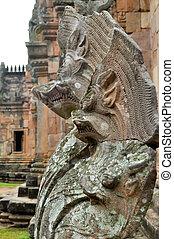 serpent statue - Five head serpent statue cambodia style