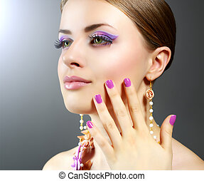 Girl with beautiful make-up