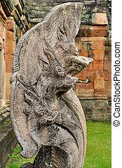 serpent statue - Five head serpent statue cambodia style.
