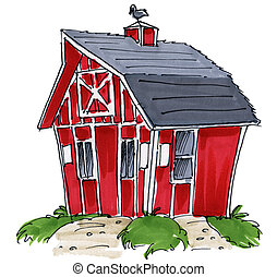 barn shed - a little barn or shed