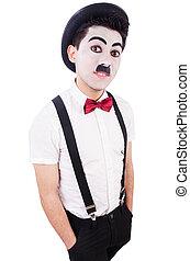personificación, Charlie, Chaplin, blanco