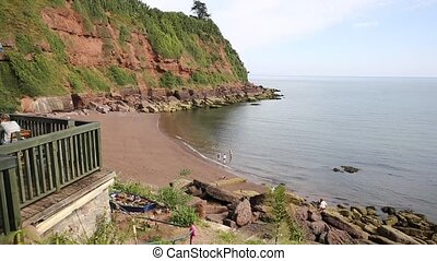 Maidencombe beach and cove Devon between Torquay and...