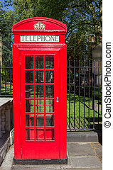 Red Telephone box - A typical red telephone box in london