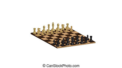 Chessboard - A Three Dimensional Chessboard isolated on...