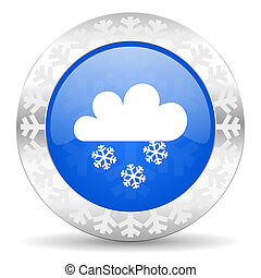 snowing christmas icon