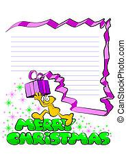 Merry Christmas Funny postcard