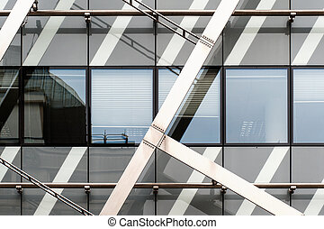 Detail View of an abstract modern building taken in Prague,...