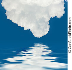 clouds and water reflection - An image of a beautiful clouds...