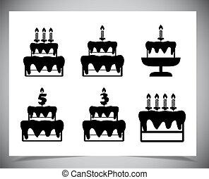 Set of Cake icons.