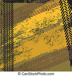 tire tracks over  background vector illustration