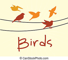 birds design over white  background vector illustration