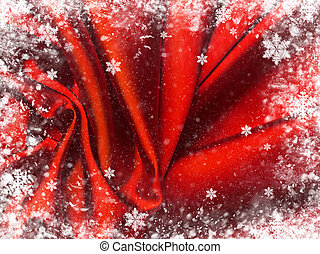 Red textile background.