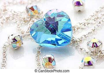 Blue Swarovski - Blue love shape swarovski puts together...
