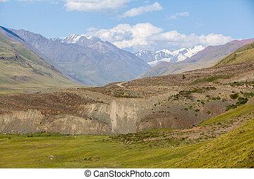 Tien Shan mountain range Kyrgyzstan