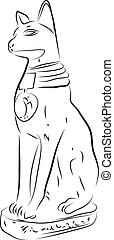 Bastet Statue - Ancient Egyptian Cat God Bastet Statue Bast...