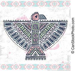 Tribal native American set of symbols - Tribal vintage...