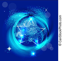 Brilliant blue star image