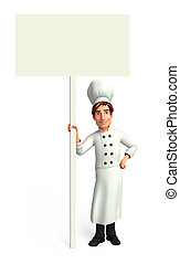 Chef on the white sign