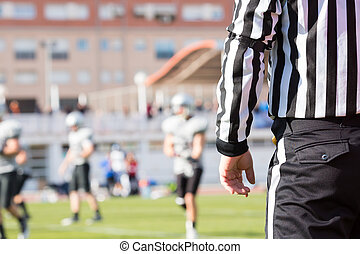 Football referee - Closeup of the back of a football referee