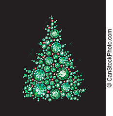 Gem Tree - Christmas Tree made of gems