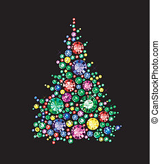 Diamond Tree - Christmas Tree made of gems
