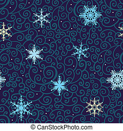 Seamless Snowflakes  vector background.