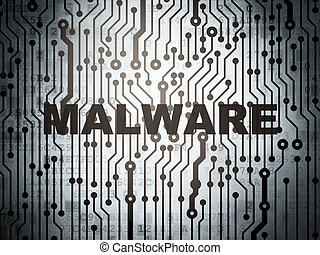 Safety concept: circuit board with Malware - Safety concept:...