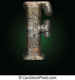Vector wooden figure