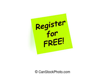 Register For Free Sign Up Concept - Register for FREE sign...