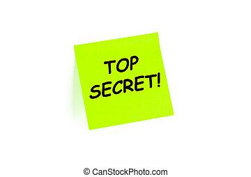 Top Secret! on a post-it note