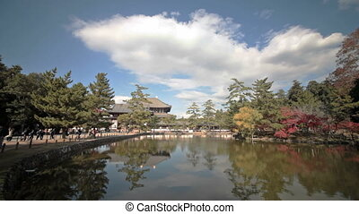 NARA, JAPAN - Nov 21: The Great Buddha Hall at Todai-ji Nov...