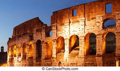 Colosseum at sunset Rome, Italy Time Lapse