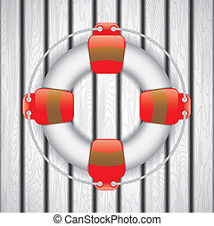 Life Buoy - Vector illustration of Life Buoy