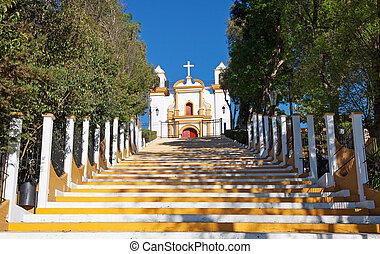 Guadalupe church, San Cristobal de las Casas, Mexico -...