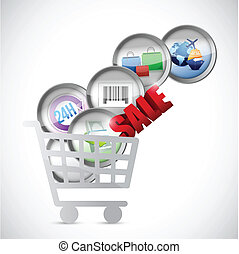 shopping cart commerce concept