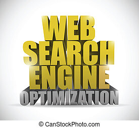 web search engine optimization sign illustration design over...