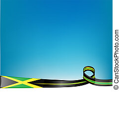 jamaica ribbon flag background