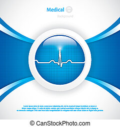 Diagnostics button - Blue diagnostics buttonMedical vector