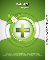 Alternative medication concept - medical cross vector