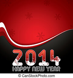 Happy New Year - Red abstract Happy New Year 2014 vector