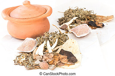 Clay pots and chinese medicine for boiling - Clay pots and...