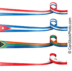 ribbon flag  set