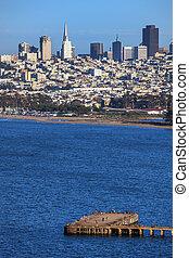 San Francisco downtown cityscape - San Francisco downtown...