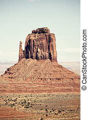 Monument Valley rock formation, old style processing