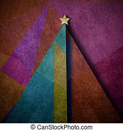 Christmas tree abstract  background  greeting card